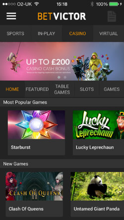 get casino rewards & casino bonuses on the BetVictor Casino App
