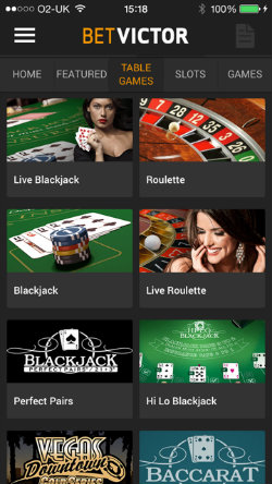 Play Blackjack & Roulette on the BetVictor Casino App