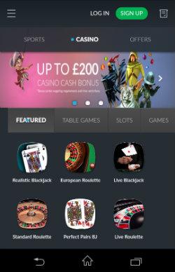 Get casino rewards & casino bonuses at BetVictor Mobile Casino