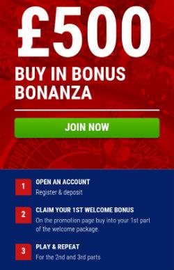 get casino bonuses and casino rewards at Boylesports mobile casino