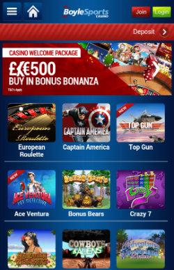 Boylesports Mobile casino