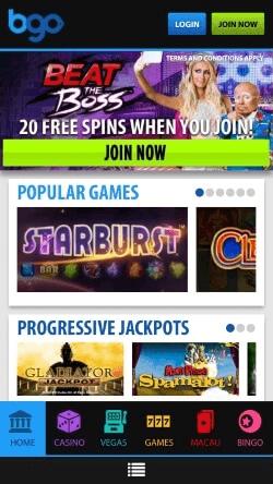 Bgo mobile casino review