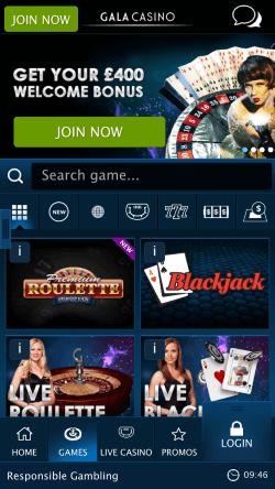Gala Casino Mobile App | CompareFreeCasino