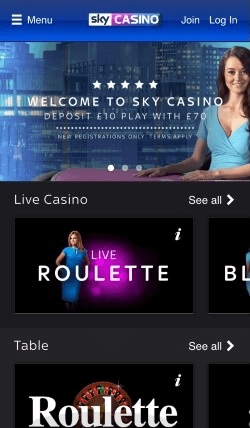 Sky Casino IOS Mobile App | CompareFreeCasino