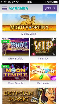 Play mobile slots on the Karamba Casino iOS App