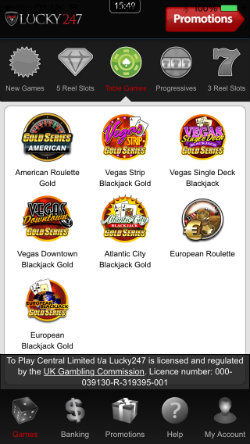 Play online Blackjack and Roulette on the Lucky247 Casino iOS App
