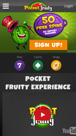 Play Pocket Fruity slots on i-Phone and i-Pad