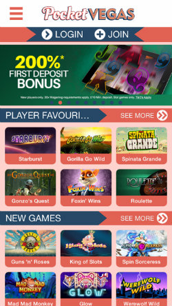 Claim casino rewards & casino bonuses on the Pocket Vegas Casino app