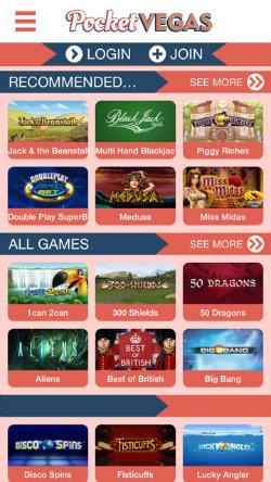 Play mobile slots on the Pocket Vegas Casino app
