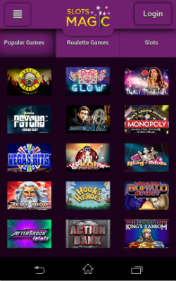 Play online casino games at Slots Magic Mobile Casino