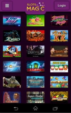 Play online slots at Slots Magic Mobile Casino