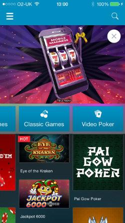 Sportingbet Casino iOS video poker