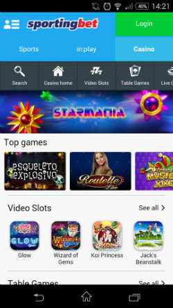 Mobile video slots at Sportingbet Casino