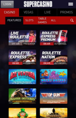 Play online slots and progressive jackpots on the SuperCasino iOS app