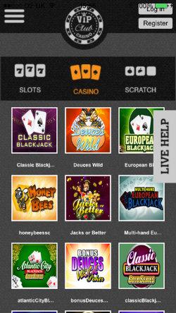 Play Blackjack, Roulette & video poker on the VIP Club Casino iOS App