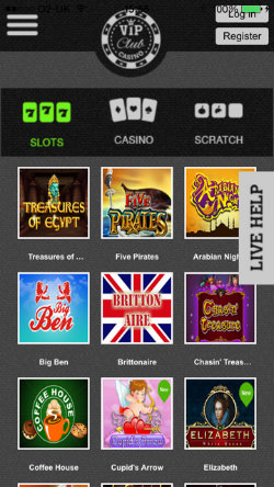 Play video slots online with the VIP Club Casino iOS App