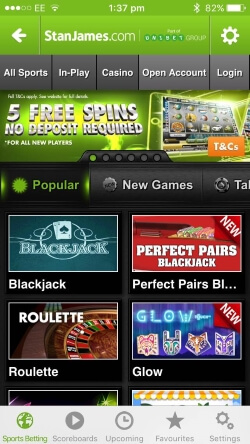 Stan james mobile sports betting