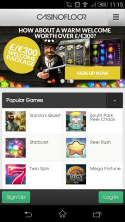 Claim casino bonuses & free spins at Casino Floor Mobile Casino
