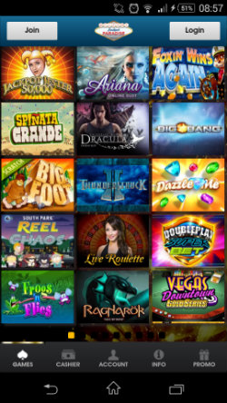 Play progressive jackpots at Jackpot Paradise Mobile Casino