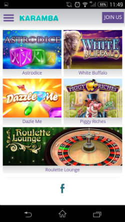 Play scratch cards at Karamba Mobile Casino