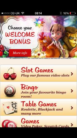Claim casino rewards on the Maria Casino App