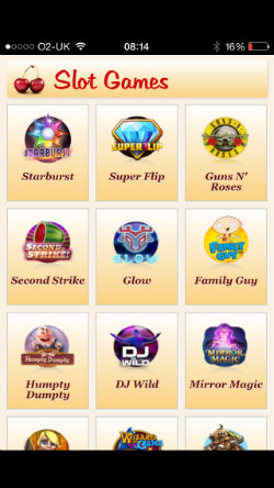 Play mobile slots on the Maria Casino App