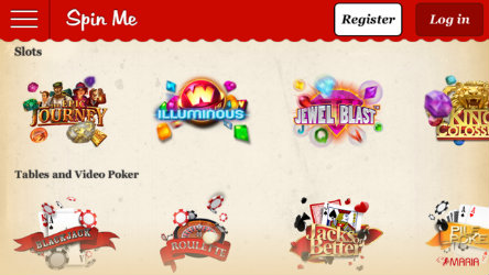 Play casino games on the Maria Casino Spin Me app