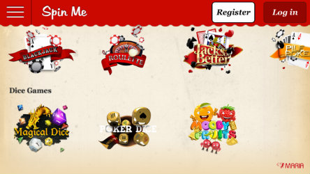 Play Roulette & Blackjack on the Maria Casino Spin Me app
