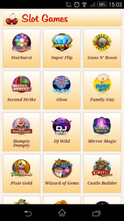 Play mobile slots at Maria Mobile Casino
