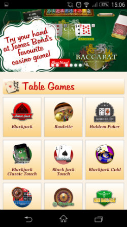 Play online Blackjack at Maria Mobile Casino