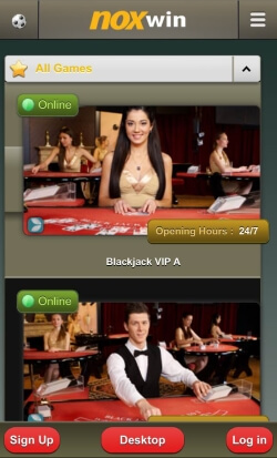 NOXwin Mobile Casino | Enjoy live blackjack and live roulette