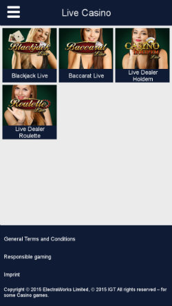 Play live casino games on the Party Casino App