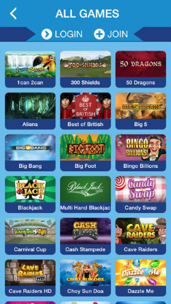 Play mobile slots on the Sapphire Rooms Casino App