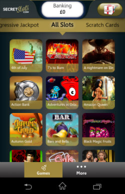 Play mobile slots at SecretSlots Mobile Casino