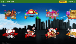 Spin City Android App | Get up to 10 Free Tokens as a casino bonus