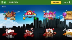Spin City Casino App | Get up to 10 Free Tokens on a first depsoit