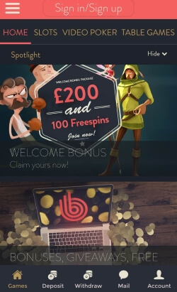 Betspin Mobile Casino | Claim up to £200 in casino bonuses and 100 free spins
