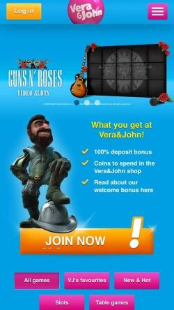 Vera&John Casino App | Get up to £100 casino bonus for free