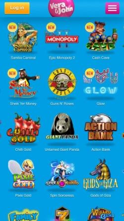 Vera&John Casino App | Play video slots like Bridesmaid, Starburst and Twin Spin