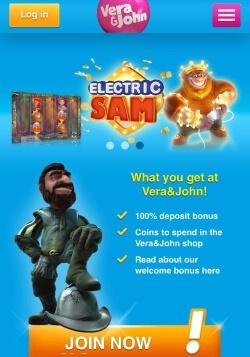 Vera&John Mobile Casino | Claim up to £100 in free casino bonus