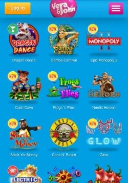 Vera&John Mobile Casino | Play almost 300 mobile casino games