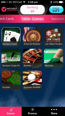 Wicked Jackpots Casino App | Play mobile blackjack and mobile roulette
