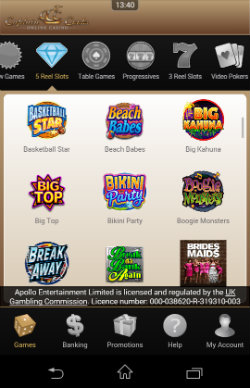 Play mobile slots at Captain Cook Casino Mobile