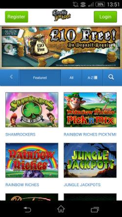 Get casino rewards & casino bonuses at Castle Jackpot Mobile Casino
