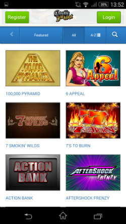 Play live casino games at at Castle Jackpot Mobile Casino