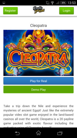 Play mobile slots at at Castle Jackpot Mobile Casino