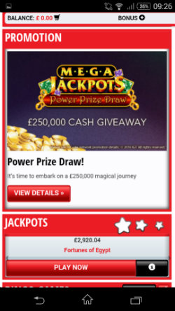 Casino promotions at at Daily Star Games Mobile Casino