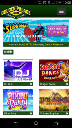 free online mobile casino golden casino games