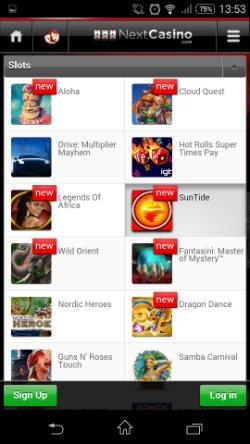 Play mobile slots & progressive jackpots Next Casino Mobile