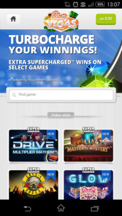 Get Supercharged casino bonuses at Slotty Vegas Mobile Casino